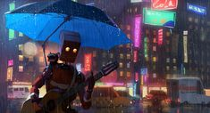 Art Singing In The Rain by Goro Fujita digital 2013