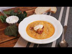 Szezonális kedvenceink: Korhelyleves kolbásszal   Mindmegette.hu - YouTube Hummus, Thai Red Curry, Menu, Breakfast, Ethnic Recipes, Cukor, Food, Youtube, Menu Board Design