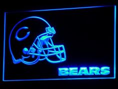 Chicago Bears 3D Edged Neon Sign. Comes in 4 Colors.