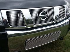 QAA: Grille Accents from QAA, Quality Automotive Accessories, INC. Your auto trim destination for your stainless steel and chrome accessory needs. Truck Tailgate, Nissan Trucks, Vw Amarok, Nissan Titan, Mercedes Benz Logo, Truck Accessories, Cool Cars, Volkswagen, Stainless Steel