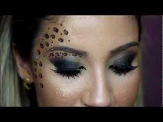 Maquiagem de Oncinha para o Carnaval - Por Bianca Andrade