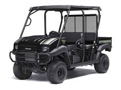"""New 2017 Kawasaki Muleâ""""¢ 4010 Trans4x4® SE ATVs For Sale in Oklahoma. Great looks, comfort and convenience highlight this Special Edition. The Muleâ""""¢ 4010 Trans4x4® SE Side x Side is a versatile mid-size two to four-passenger Side x Side that's capable of putting in a hard day of work as well as touring around the property. 617 cc fuel-injected, V-twin engine produces reliable performance SE features include high-output LED headlights, sun top, and SE color and graphics Selectable 2WD…"""