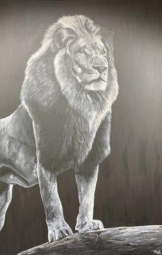 170cm tall Pet Portraits, Lion Sculpture, Hand Painted, Statue, Pets, Artist, Painting, Beautiful, Painting Art