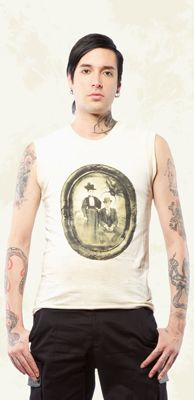 """LIP SERVICE Mecanique Menagerie """"Day At The Gardens"""" sleeveless shirt #M12-177"""