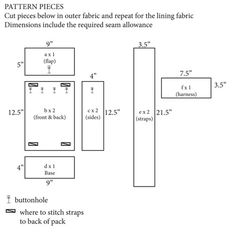 ... more sewing patterns for kids sewing backpacks sewing patterns free