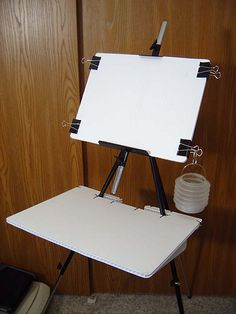 Coroplast (Easel) The Learning Zone Plein Air Easel, Diy Tripod, Diy Easel, Pochade Box, Watercolor Kit, Art Studio Organization, Art Storage, Art Studios, Paintings