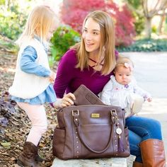Convertible full grain leather diaper bag, cross body and backpack