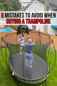 When trampoline shopping, avoid these common mistakes. Click this guide for everything you need to know to choose a trampoline and mistakes to avoid | trampoline tips | trampoline guide | buy trampoline backyard #trampoline #backyardtrampoline Buy Trampoline, Spring Free Trampoline, Fun Trampoline Games, Toddler Trampoline, Trampoline Springs, Rebounder Trampoline, Trampoline Party, Trampoline Workout