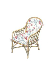 Soane Britain's Rattan Lily Dining Chair Chair Parts, Drum Table, Butterfly Chair, Dog Bed, Furniture Making, Designs To Draw, Rattan, Hand Weaving, Upholstery