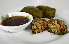 vegetarian stuffed grape leaves!
