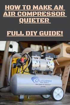 Use these 10 powerful air compressor noise reduction tips to your advantage. Workshop Storage, Garage Workshop, Tool Storage, Garage Storage, Workshop Layout, Storage Baskets, Storage Ideas, Homemade Lathe, Homemade Tables