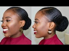 Natural Hair Stays Slick Down for ONE WEEK!😲 How To Stop Gel From Flaking Tutorial Hey loves, Today's video is a detailed Natural Hair Tutorial showing h. Natural Hair Ponytail, Natural Hair Gel, Slick Ponytail, Natural Hair Styles, Slick Hairstyles, Down Hairstyles, Prom Hairstyles, Hairdos, Updos