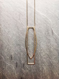 Gold Geometric Gates necklace-by Loop Gold-fill-Geometric-Portland Jewelry-Arc Necklace-Rectangle Necklace-Art Deco-Hammered by LoopHandmadeJewelry Art Deco Jewelry, Metal Jewelry, Gold Jewelry, Jewelery, Fine Jewelry, Jewelry Gifts, Jewelry Design, Art Deco Necklace, Jewellery Boxes