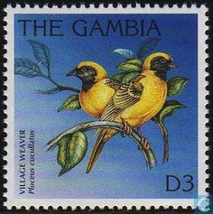 Stamps - Gambia - Birds 1996