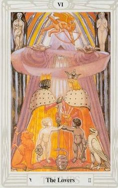 'The Devil' tarot card from the Thoth deck by Aleister ...