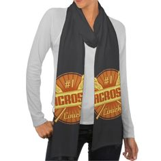 No. 1 #Lacrosse Coach Scarf.   Grab one of these custom made jersey cotton American Apparel scarves for just $21.95.   To see this design on the full range of products, please visit my store: www.zazzle.com/gamefacegear*/ and click on the 'Lacrosse Designs' category. #LAX