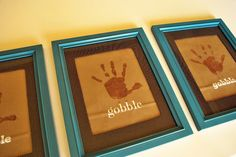 diy turkey handprint thanksgiving art