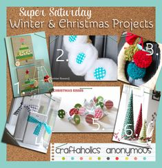 DIY::  Super Winter & Christmas Craft Projects!