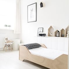 Bed with Desk attached . Bed with Desk attached . Black and White Wood Kids Room Chambre Enfant Noir
