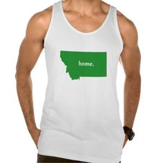 Montana home silhouette state map tank Tank Tops