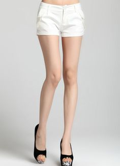 White Modern Office Short  $31.19 Shorts With Pockets, Cotton Shorts, Sexy, Modern, Trendy Tree