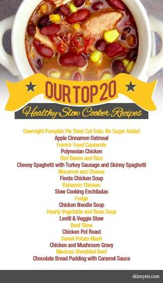 Skinny Ms. Top 20 Healthy Slow Cooker Recipes :) #healthy #slowcooker #recipes