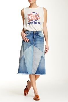 The Patchwork Skirt by Current/Elliott on @nordstrom_rack