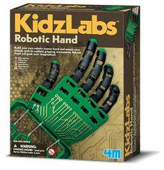 Robot Hand Bouwpakket: Met het 4M Kidzlabs Robot Hand bouwpakket kun je zelf een eigen robothand maken en hier allemaal… #gadget #cadeau
