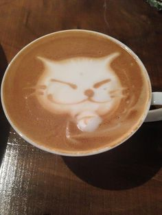 ラテアート デブネコ 猫 作り方  How to make latte art  Cat