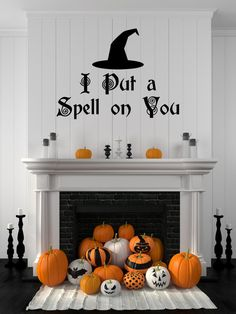 Make your home spooky this Halloween with Hocus Pocus inspired decal! I put a spell on you Handcrafted die cut decal made from premium vinyl. Made