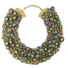 "Coppola e Toppo collar necklace. Signed  Italy,  1964  Collar necklace studded with ""Margarita"" stones, which were     created for the Swaroski Company by Lyda Coppola"