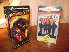 Survivor Series 97 & No Way Out Kane - WWF 2 VHS Tapes Lot 1997