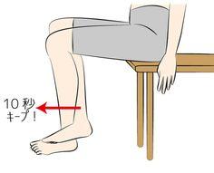 座ったままできる下半身の筋トレと言えば、膝に電話帳を挟むトレーニングが定番。でも結構きつくて挫折してしまったという方が多いのも事実です。そこで道具ナシ、オフィスでもできる「足組み前押しトレーニング」をご紹介します。