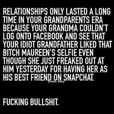 Ha ha for real! Social media has ruined the reality of relationships and basic human interaction...you are you as appear to be online but only if that is the way you chose to live your life...is your's reality or just a mere made up image of what you think other's want to perceive it to be???