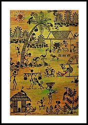 Tribals I Framed Print by Ivy Sharma