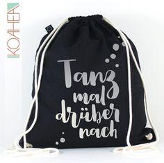 Turnbeutel - Sportbeutel TANZ MAL schwarz - kupfer gold silber - ein  Designerstück von KOAHEA bei 24c70e11a6