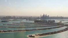 Flying over Palm Jumeriah Island in Dubai heading to the Burj Al Arab. Palm Jumeirah, Burj Al Arab, Luxury Real Estate, Beverly Hills, Property For Sale, Dubai, River, Island, Places