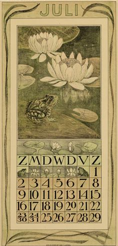 Theodoor van Hoytema, calendar 1911 July