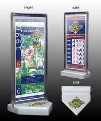 1996 World Series Commemorative Ticket Desktop Display - New York Yankees