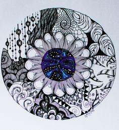 Mandalas -Zendala -  Zentangle - Dubujo - estilografos, microfibras
