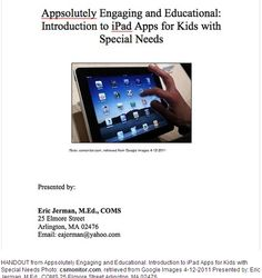 iPad apps for students with special needs