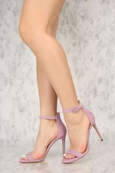 2f36a140c Sexy Lavender Open Toe Ankle Strap Single Sole High Heels