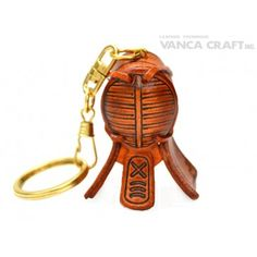 GENUINE 3D LEATHER KENDO MASK KEYCHAIN MADE BY SKILLFUL CRAFTSMEN OF VANCA CRAFT IN JAPAN. #handmade #keyfob #gift #unique #art #design #cute #sports