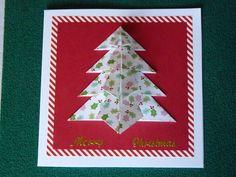 An origami xmas tree card I made for Christmas 2014 Christmas 2014, Christmas Cards, Christmas Ornaments, Origami Xmas Tree Card, Oragami Star, Holiday Decor, Projects, Art, Christmas E Cards
