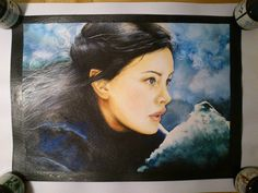 Here is Arwen. Almost finish. I just add golden edges.