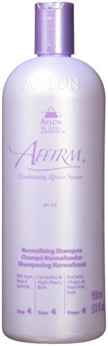 Avlon Affirm Normalizing Shampoo 32 oz.:   Insures that just-relaxed hair has returned to the normal pH range. Features a Color Indicator to confirm removal of all traces of relaxer creme. Lathers effectively to cleanse and remove residual relaxer oils. Helps re-align and close cuticles. Leaves ha