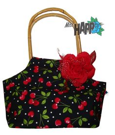 Rockabilly Cherry Hand bag by MissHapp on Etsy, $53.00