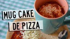 Recetas en el microondas   Mug Cake de Pizza