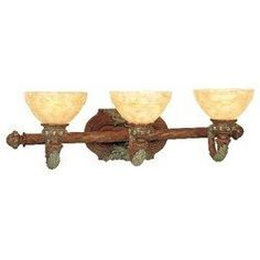 """Livex 8263-17 Salerno Bath Light Crackled Bronze with Vintage Stone Accents by Livex. $207.81. Livex Lighting 8263-17 Crackled Bronze with Vintage Stone Accents Bath Salerno 29"""" W x 8.75"""" H x 9.5"""" E, 3x60W Med Base, Art Alabaster Glass Glass / Shade Backplage: 10""""W x 6""""H TTM (height from top of fixture to mounting): 5.25"""" Height. Save 37% Off!"""