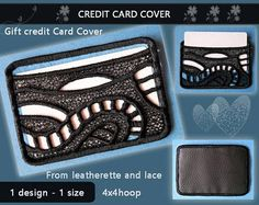 Card holder  credit card cover No.381  FSL and leatherette